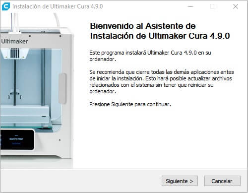 panel-inicio-cura-ultimaker