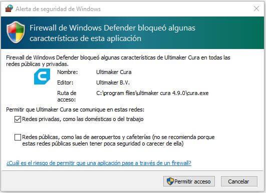 aceptar-firewall-instalación-cura-ultimaker