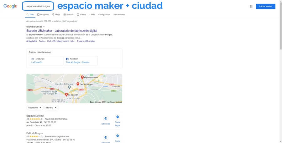encontrar espacio maker