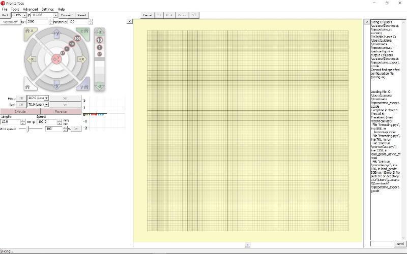software-impresora-3d-pronterface