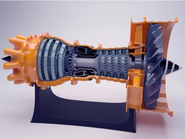 turbina-jet-impreso-en-3D